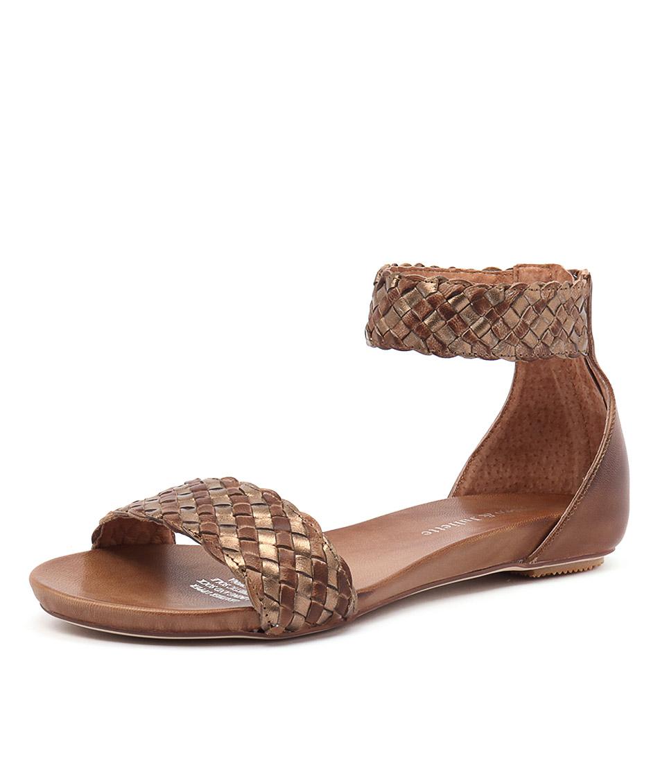 Django & Juliette Gamree Tan-Bronze Leather Sandals online