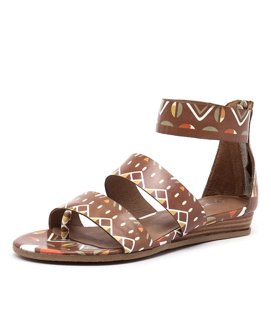 Django & Juliette Heaps Tan Tribal Sandals