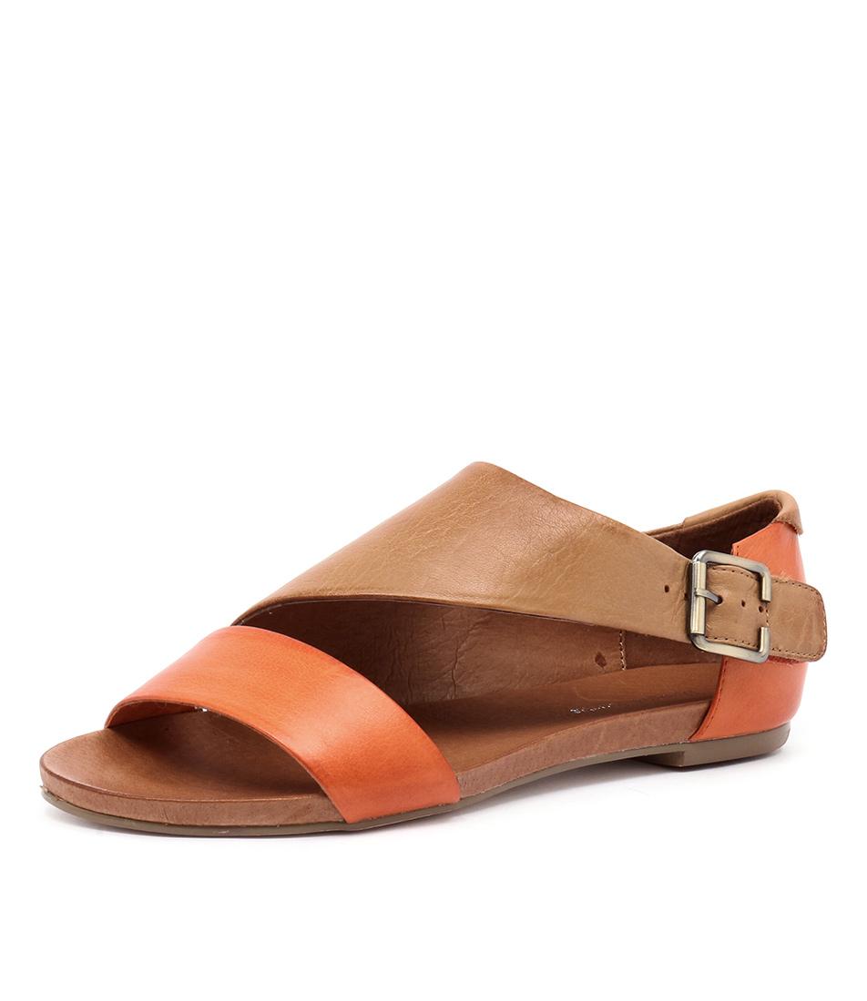 Django & Juliette Jimini Orange-Tan Leather Sandals online