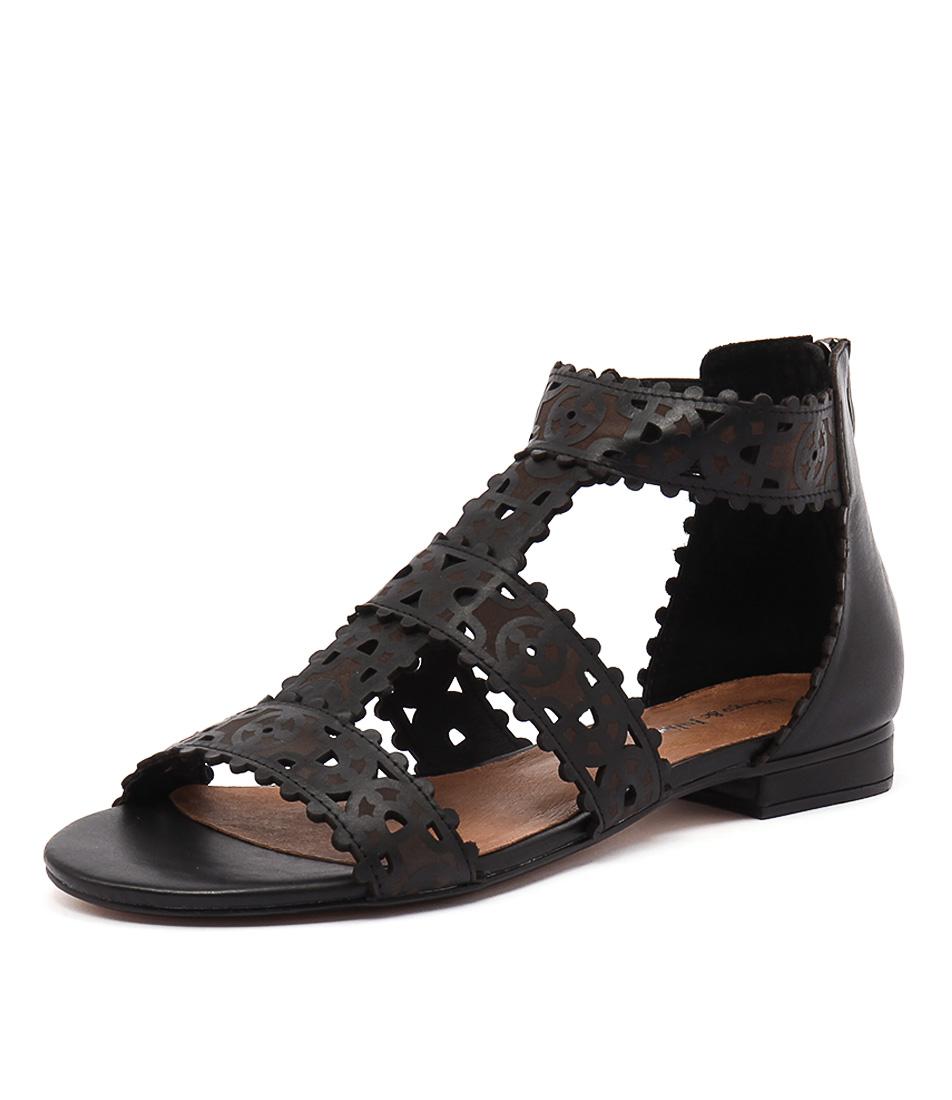 Django & Juliette Perla Black Leather Sandals online