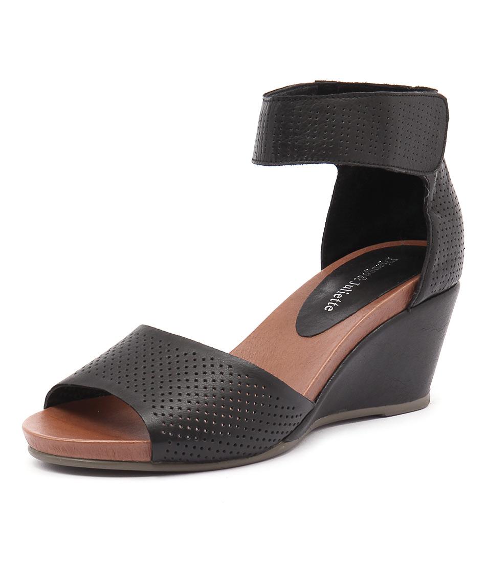 Django & Juliette Upper Black Pin Punch Sandals