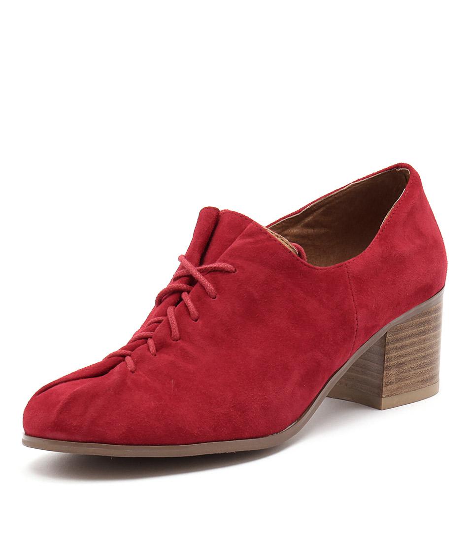 Django & Juliette Kishy Red Suede Boots