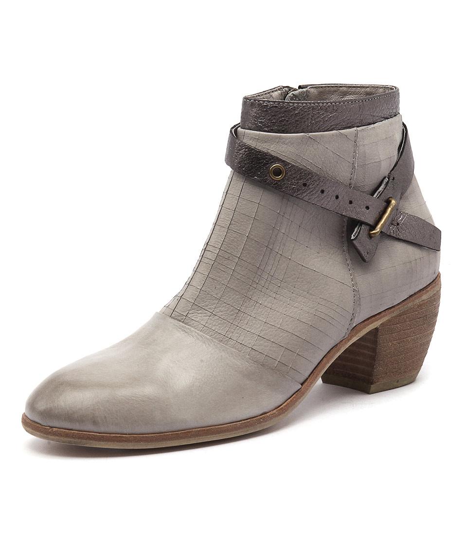 Django & Juliette Mersen Grey-Pewter Cut Boots