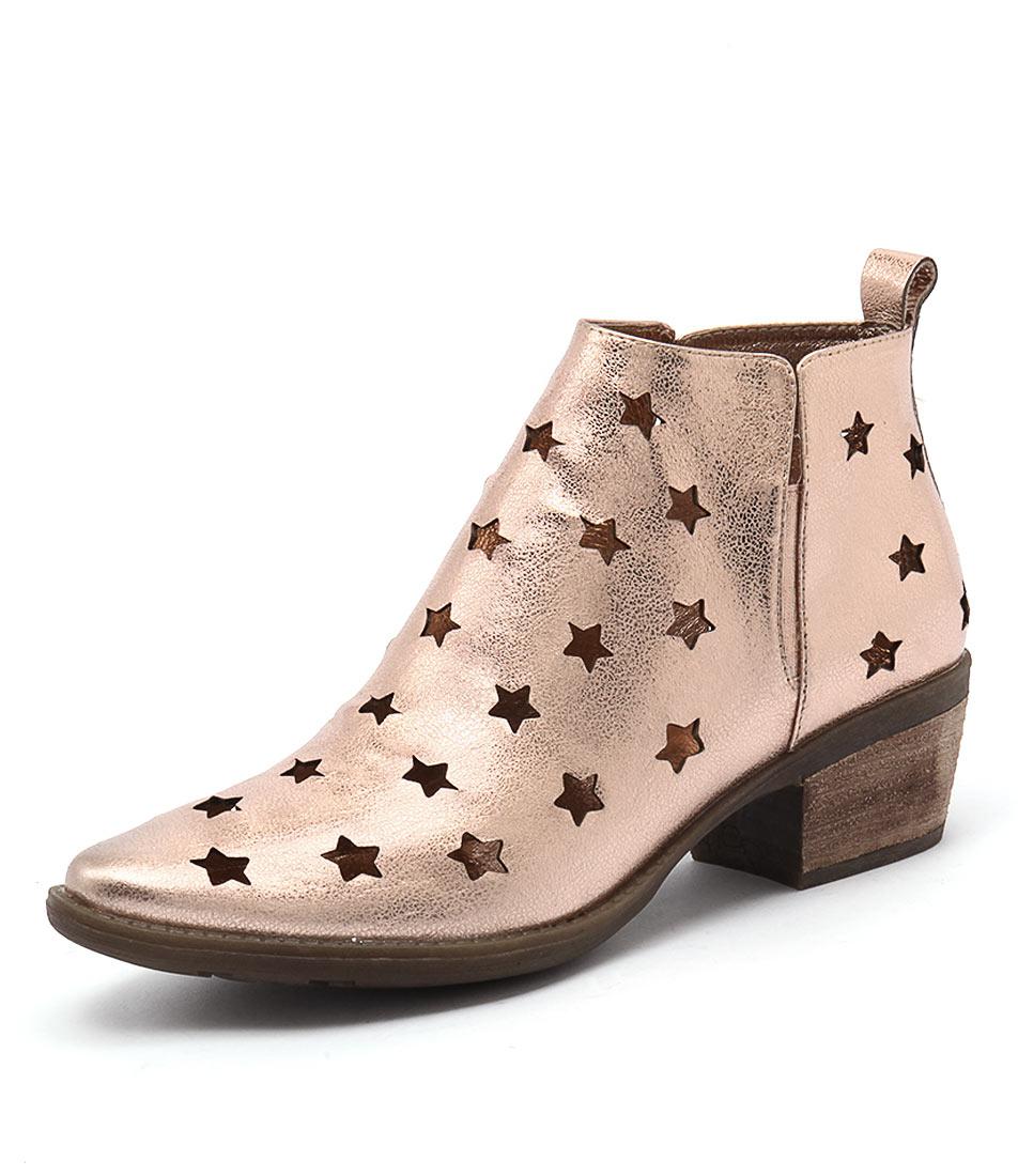 Django & Juliette Sacred Rose Gold Leather Boots online
