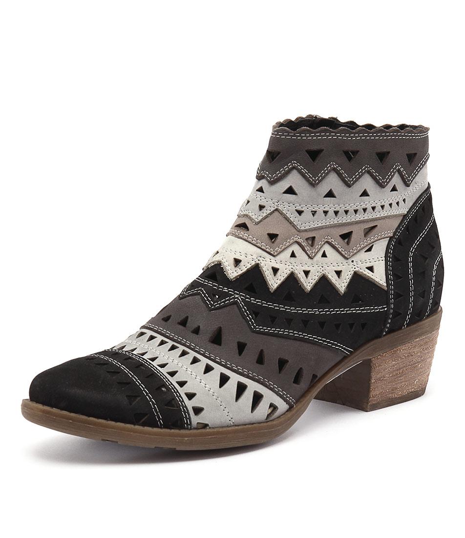 Django & Juliette Sugarm Black-Multi Boots