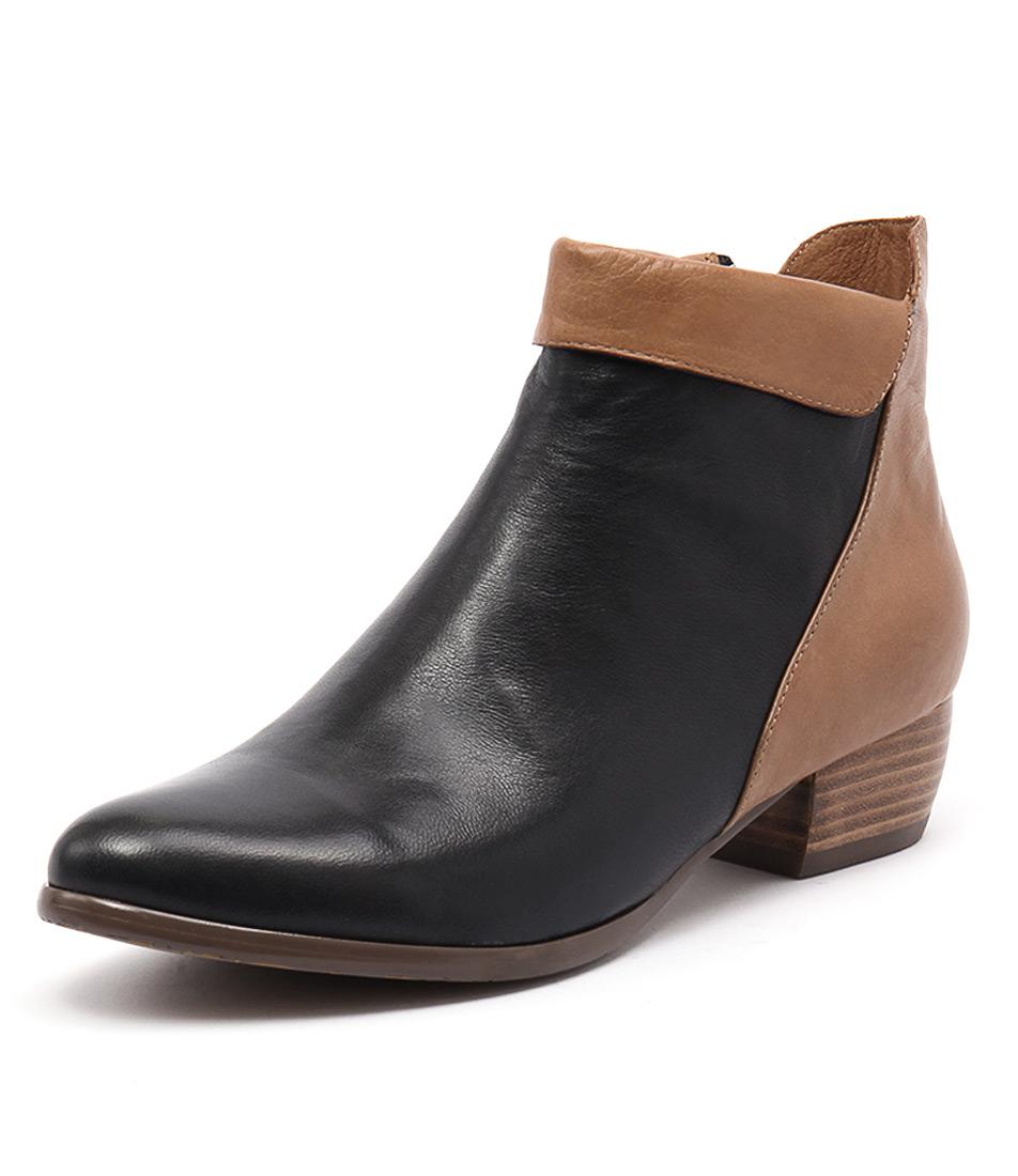 Django & Juliette Tella Dark Navy-Dark Tan Boots online