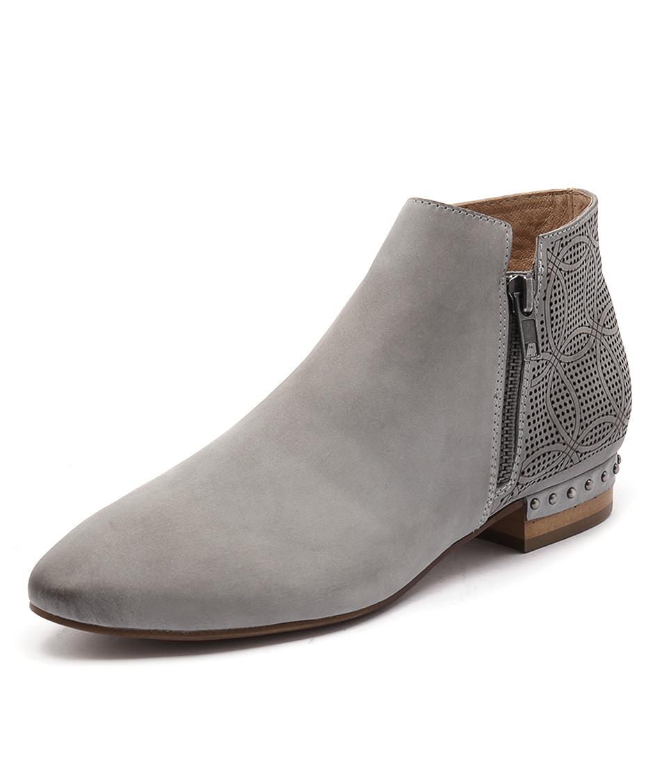 Django & Juliette Verona Blue Grey Leather Boots online