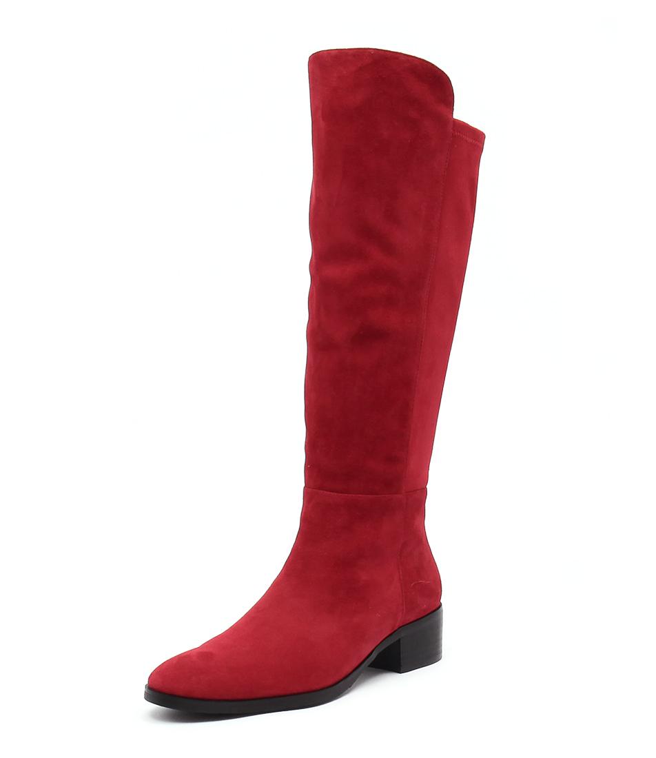 Django & Juliette Tetley Red Suede Boots