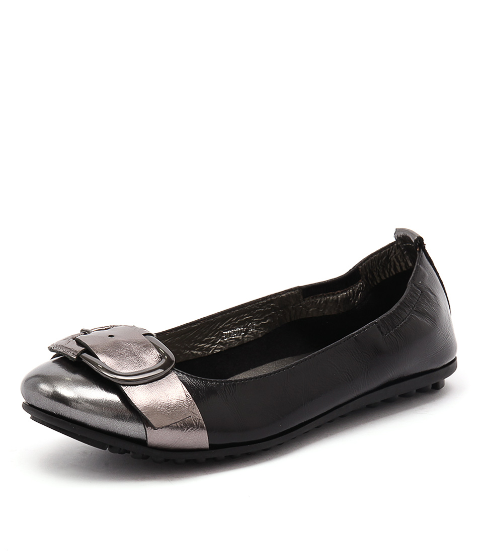 Django & Juliette Bondi Pewter-Black Multi Flats