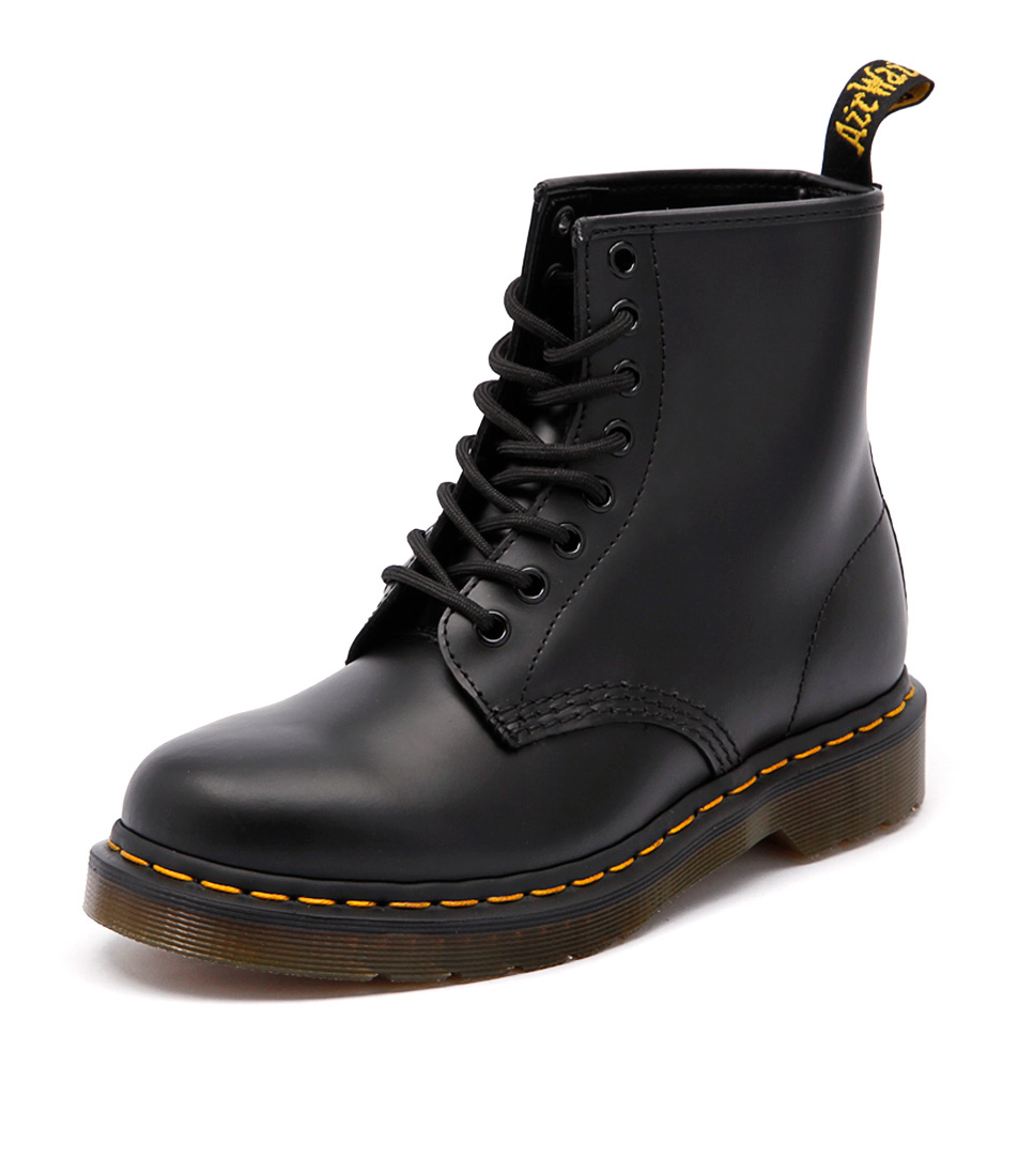 Dr. Martens 1460 8 Eye Boot Black Smooth Boots