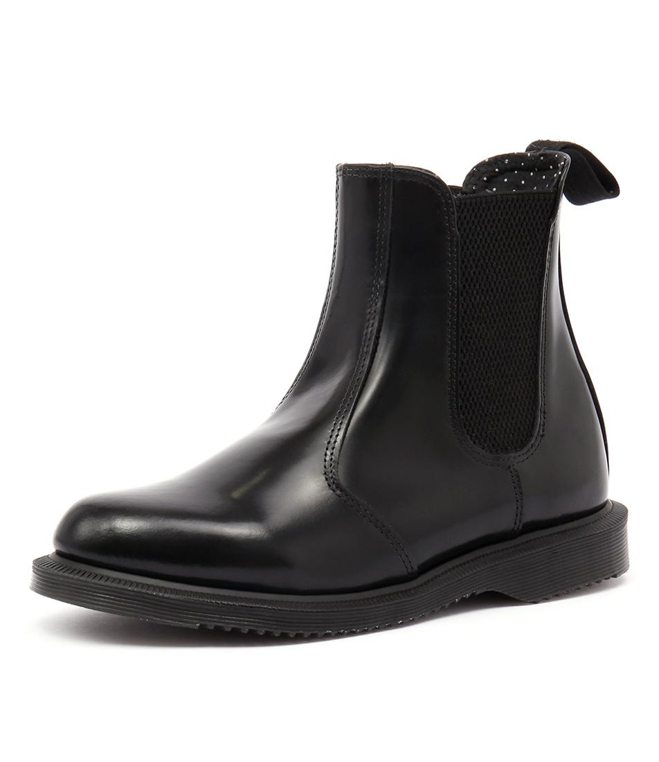 Dr. Martens Flora Chelsea Boot Black Boots