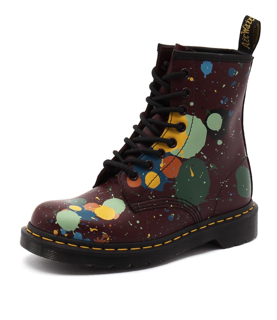 Dr. Martens 1460 8 Eye Boot Splatter Red Boots
