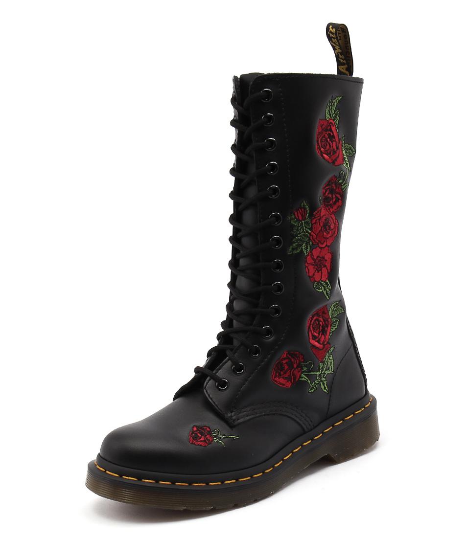 Dr. Martens Vonda 14 Eye Boot Black Boots