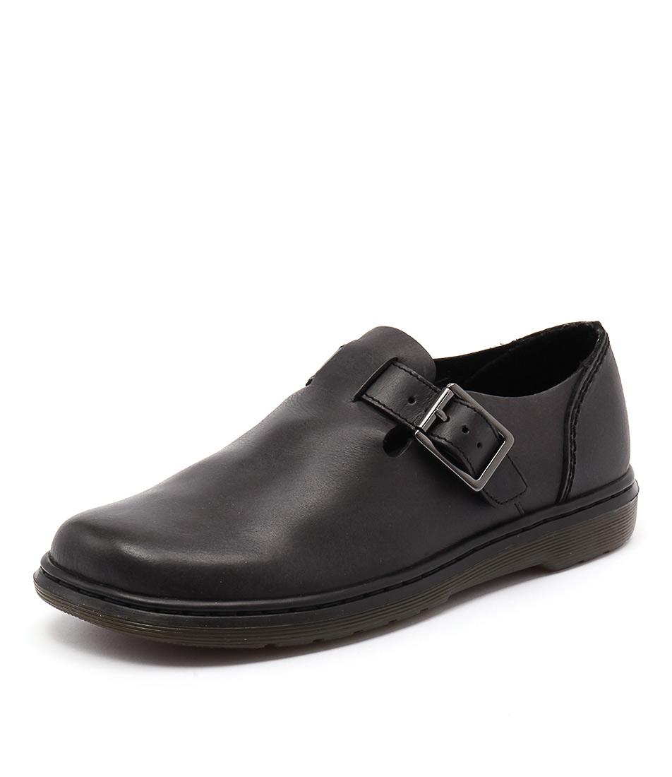 Dr. Martens Patricia Buckle Shoe Black Loafers