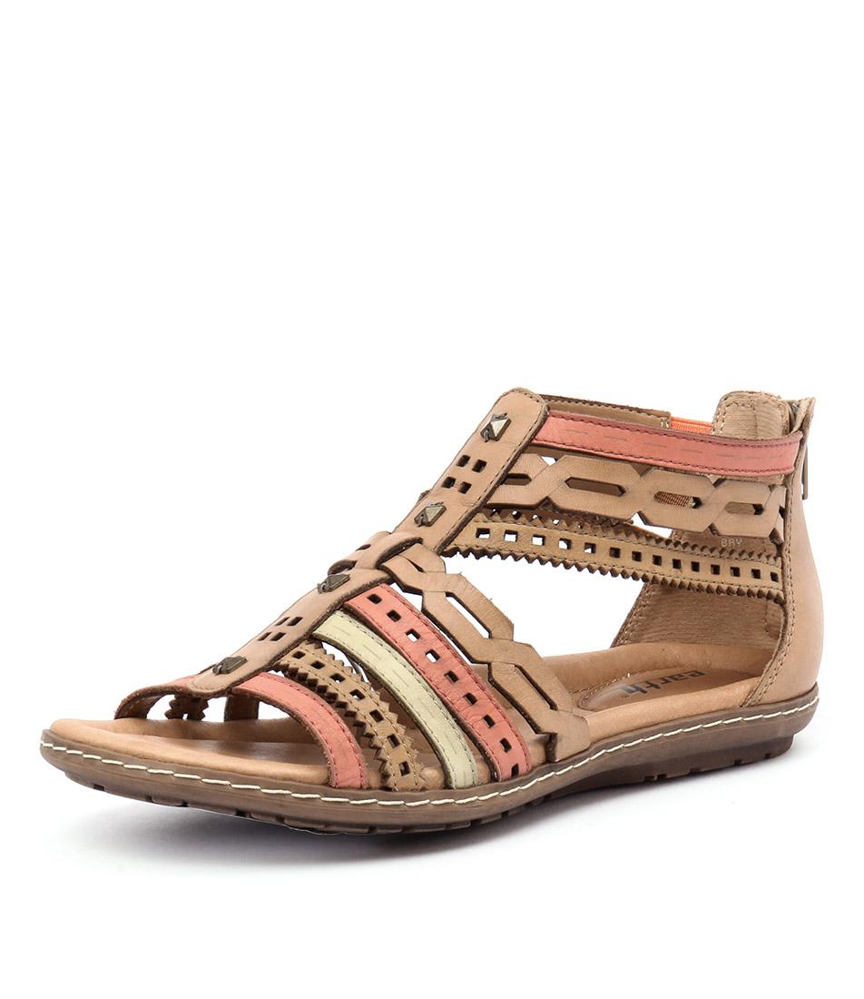 Earth Bay Brown-Orange Sandals online