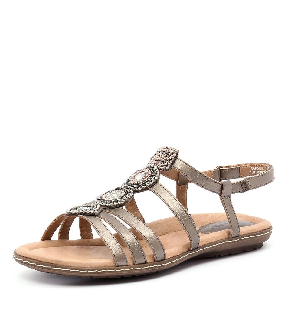 Earth Seaside Platinum Sandals