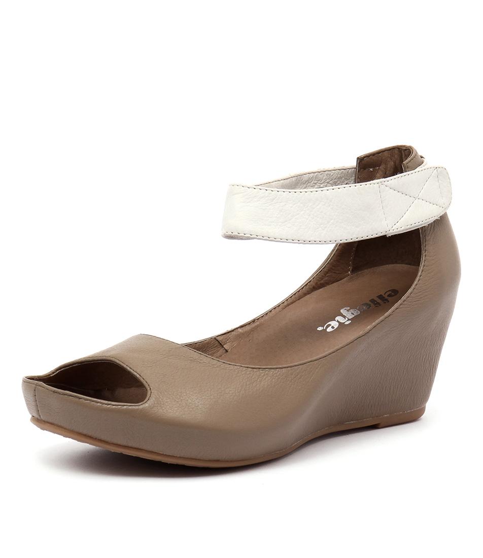 Effegie Missus Taupe-White Sandals