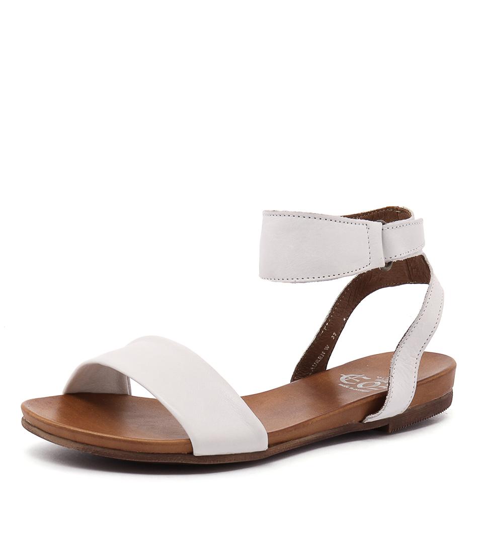 EOS Lauren White Sandals