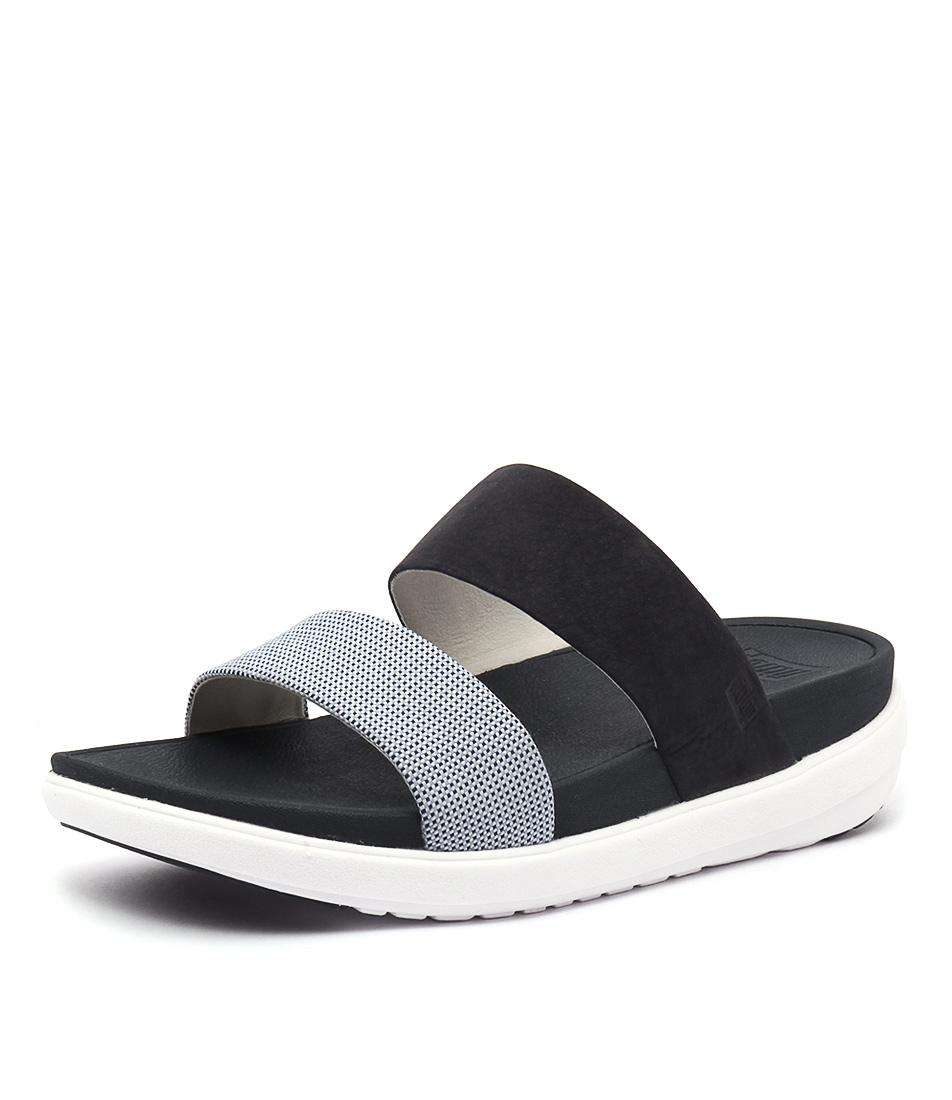 FitFlop Loosh Slide Blue Wave Sandals