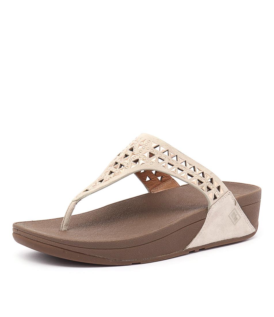 FitFlop Carmel Toe Post Rose Gold Sandals