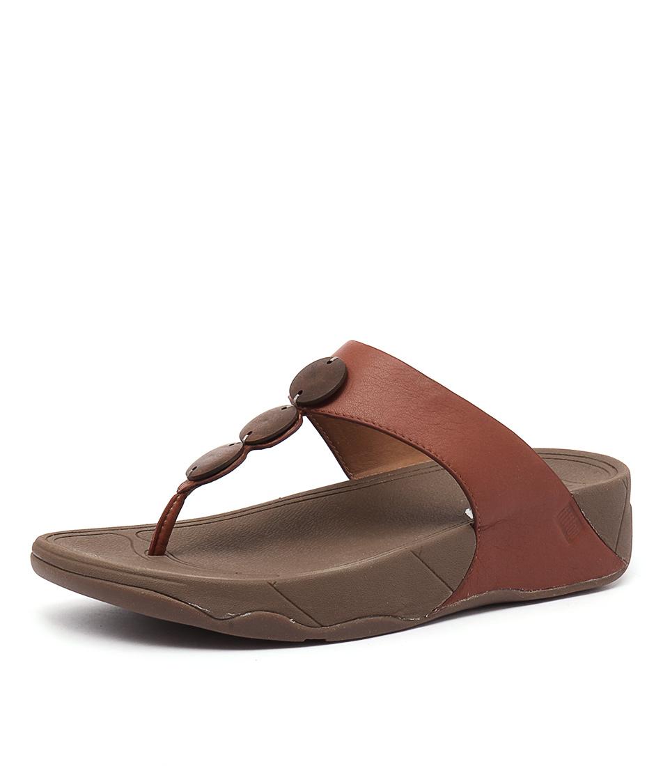 FitFlop Petra Dark Tan Sandals
