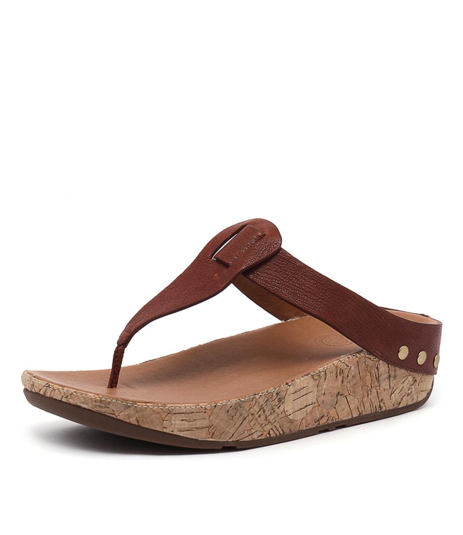 FitFlop Ibiza Cork Dark Tan Sandals
