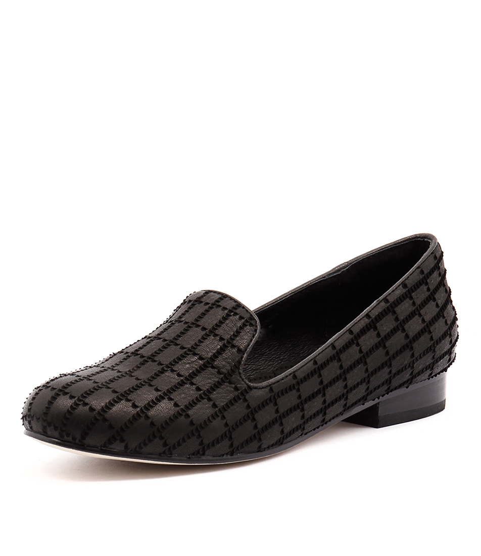 Gamins Acker Black Cut Loafers
