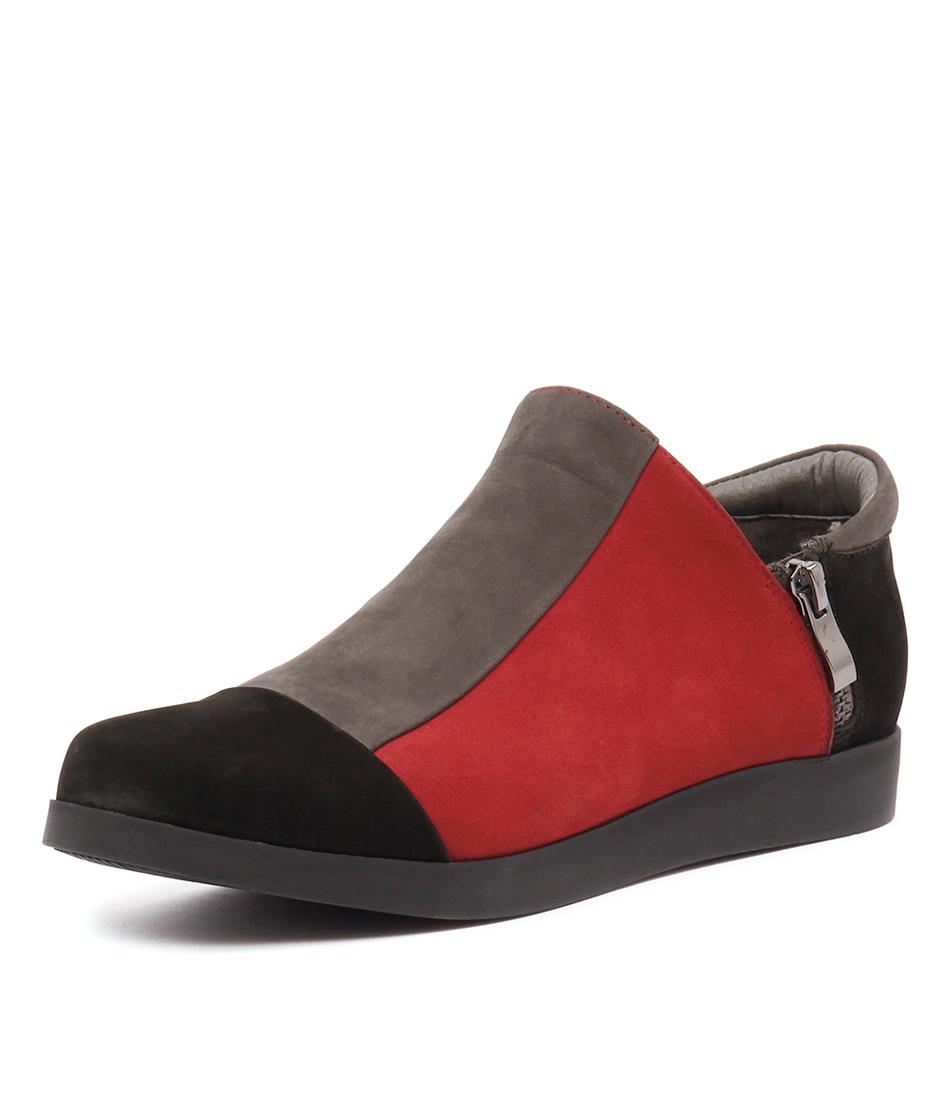 Gamins Renew Black-Dark Grey-Dark Red Boots