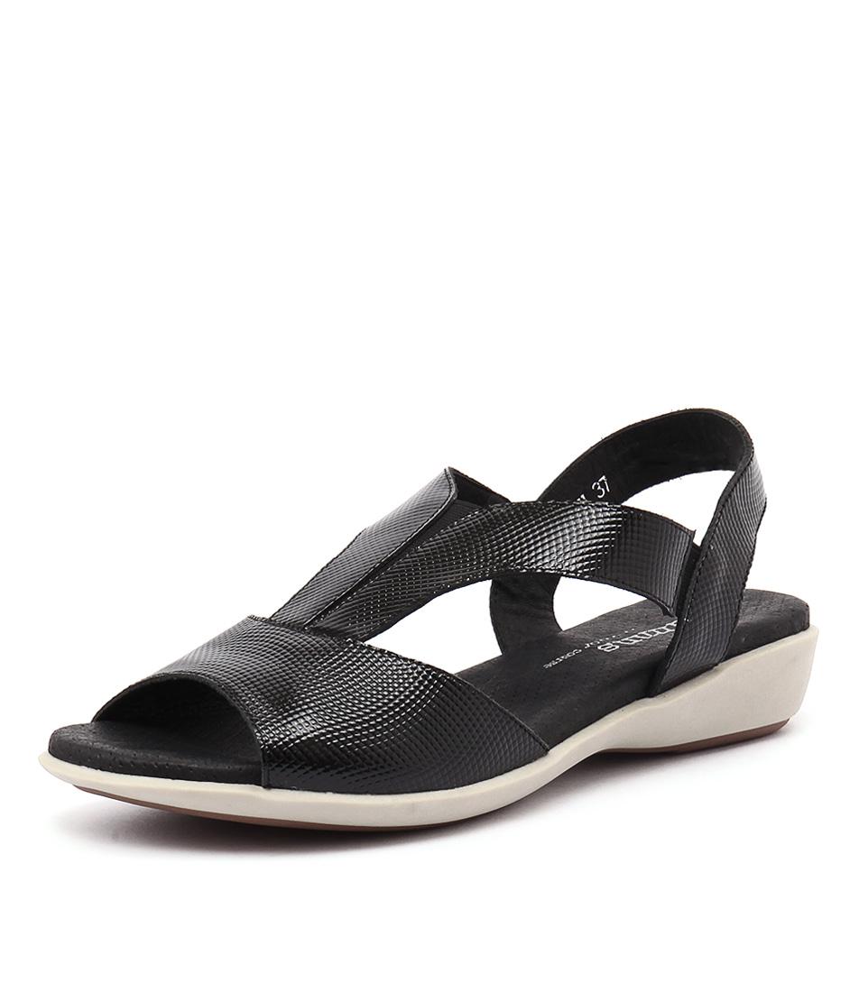 Gamins Babich Black Lizard Sandals