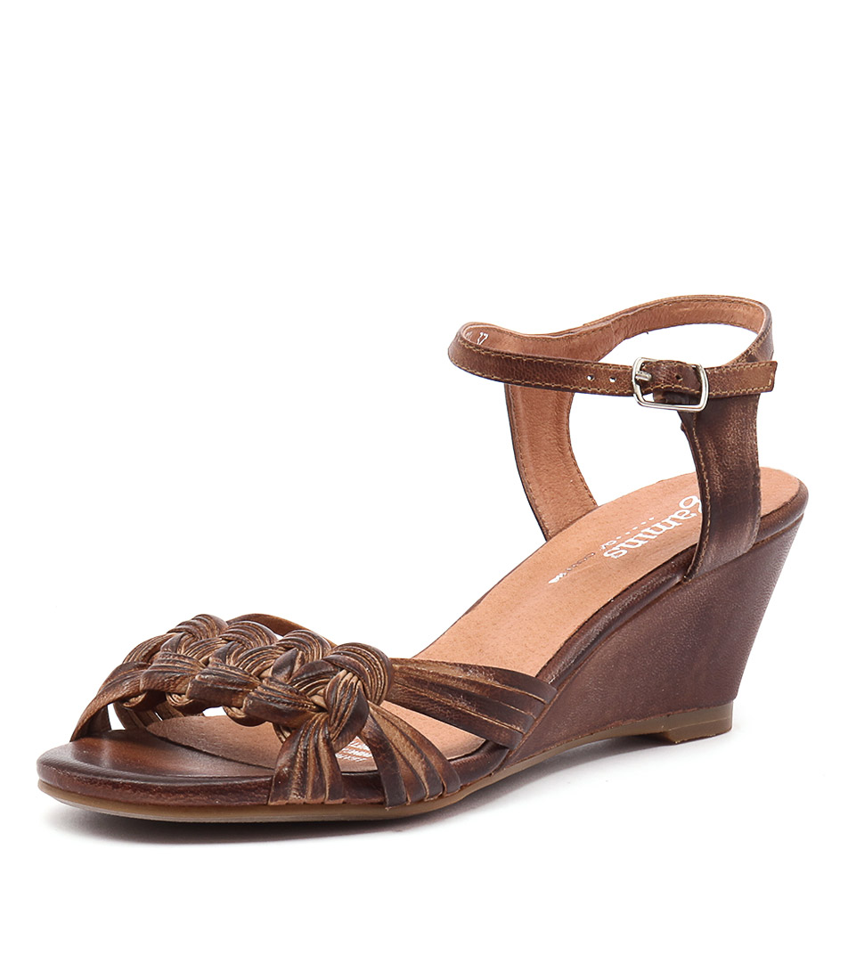 Gamins Crema Tan Leather Sandals