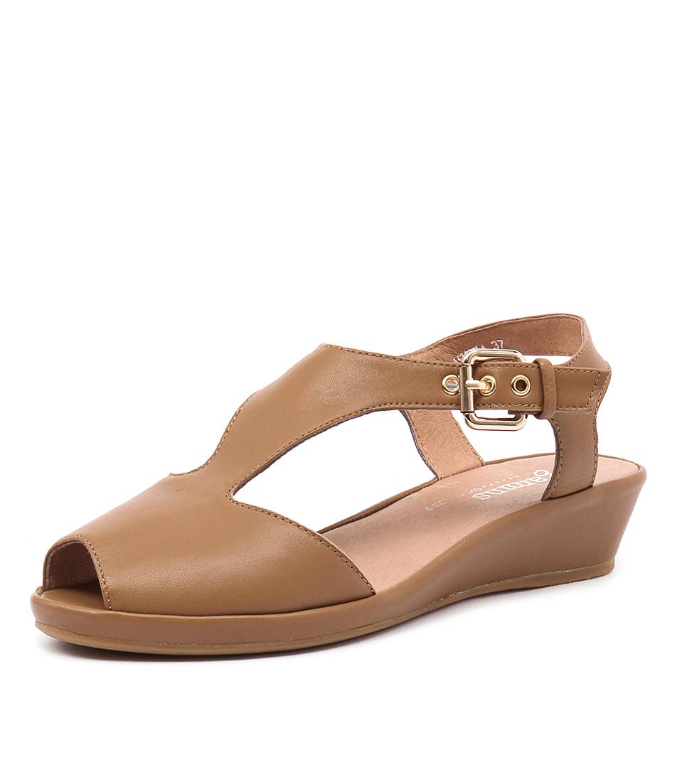 Gamins Dashika Tan Leather Sandals