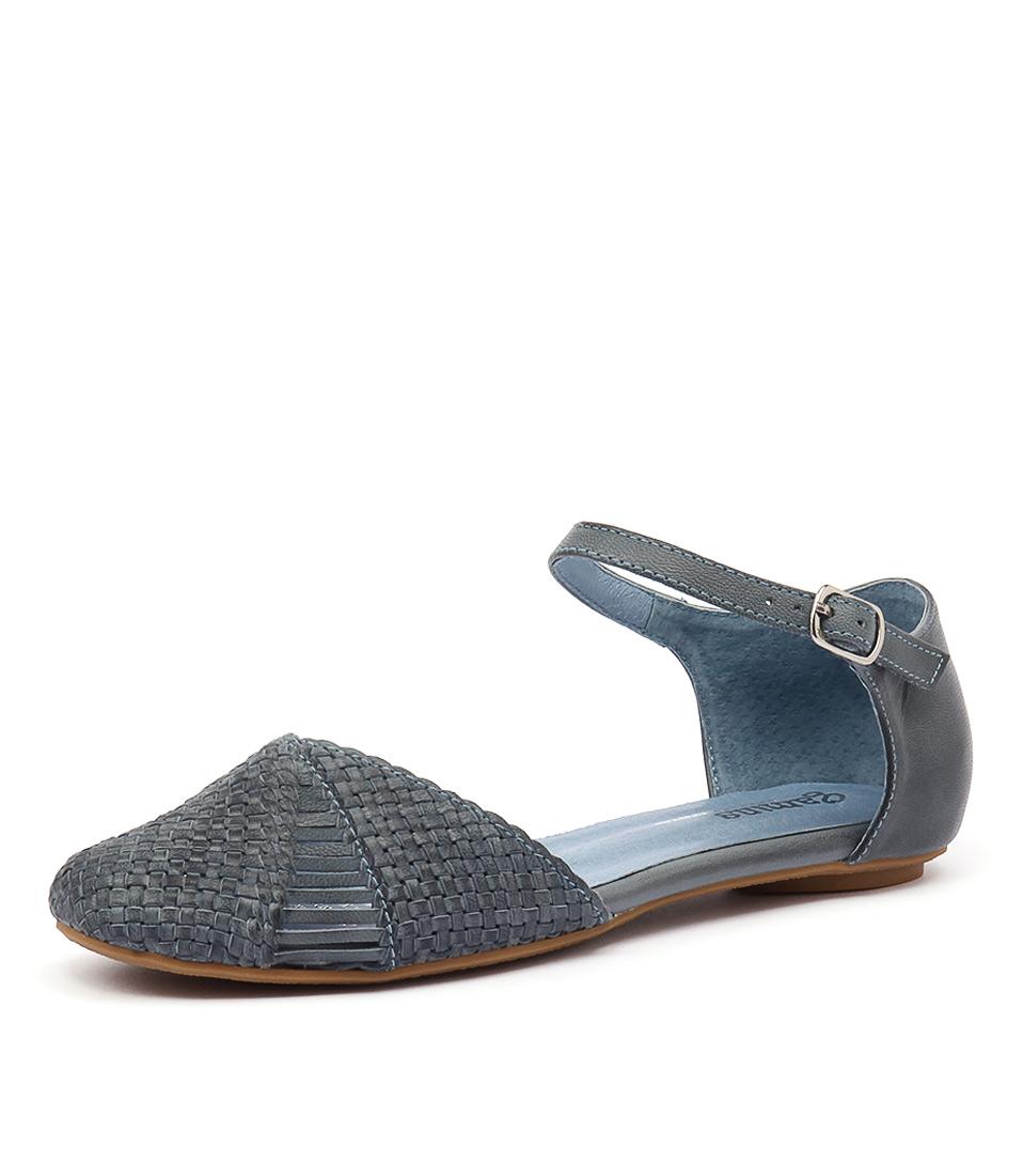 Gamins Elsa Denim Leather Shoes