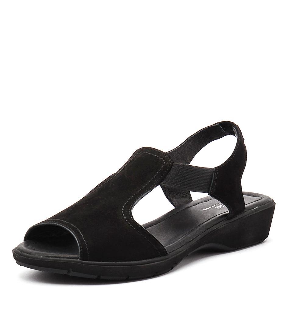 Gamins Kapok Black Nubuck Sandals