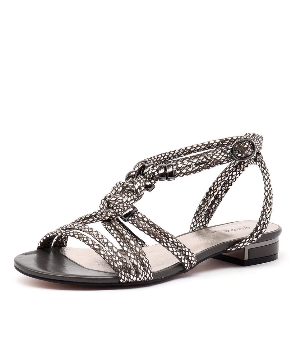 Gamins Naurite Pewter Metallic Snake Sandals