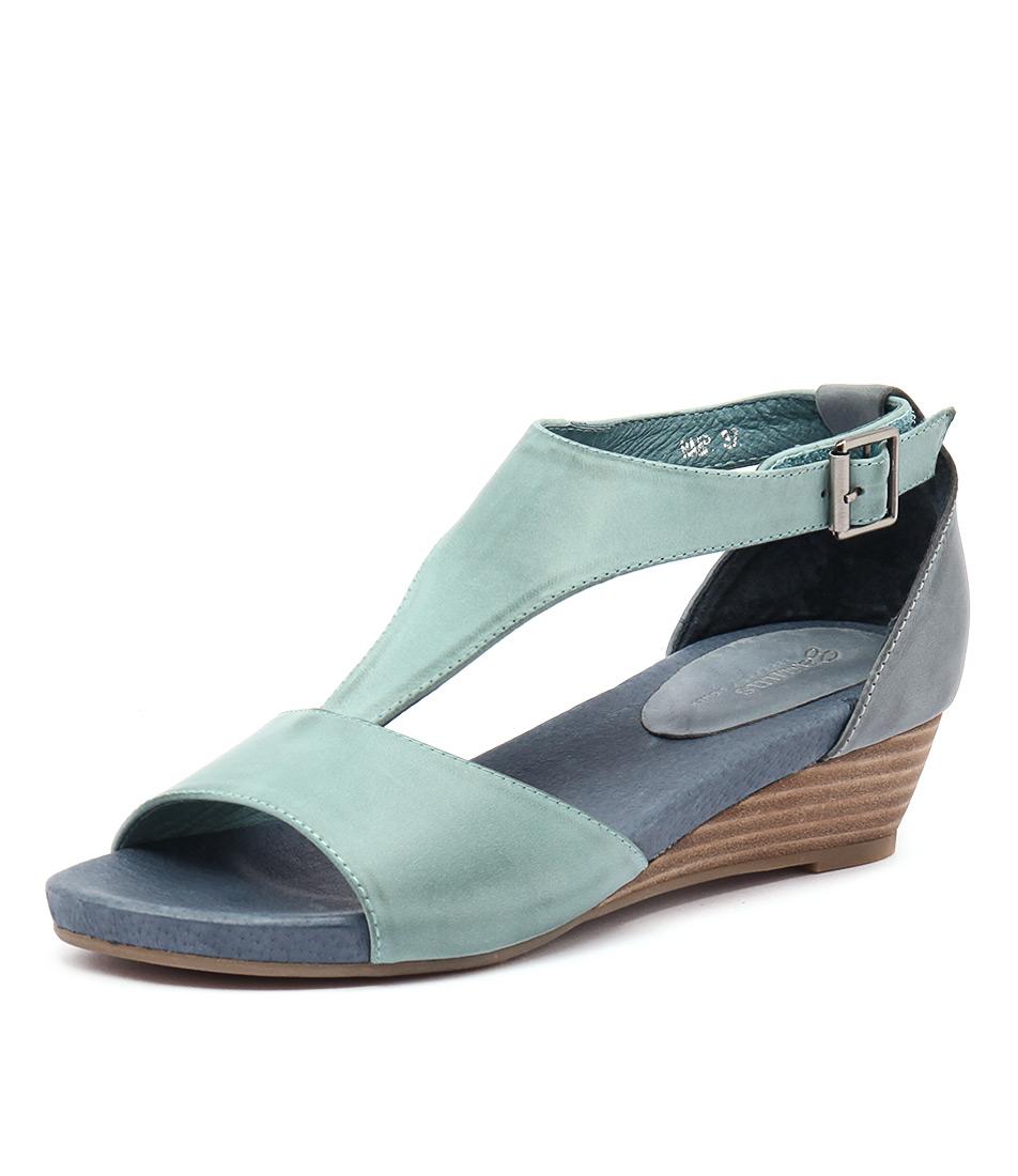 Gamins Ramp Blue-Navy Leather Sandals online