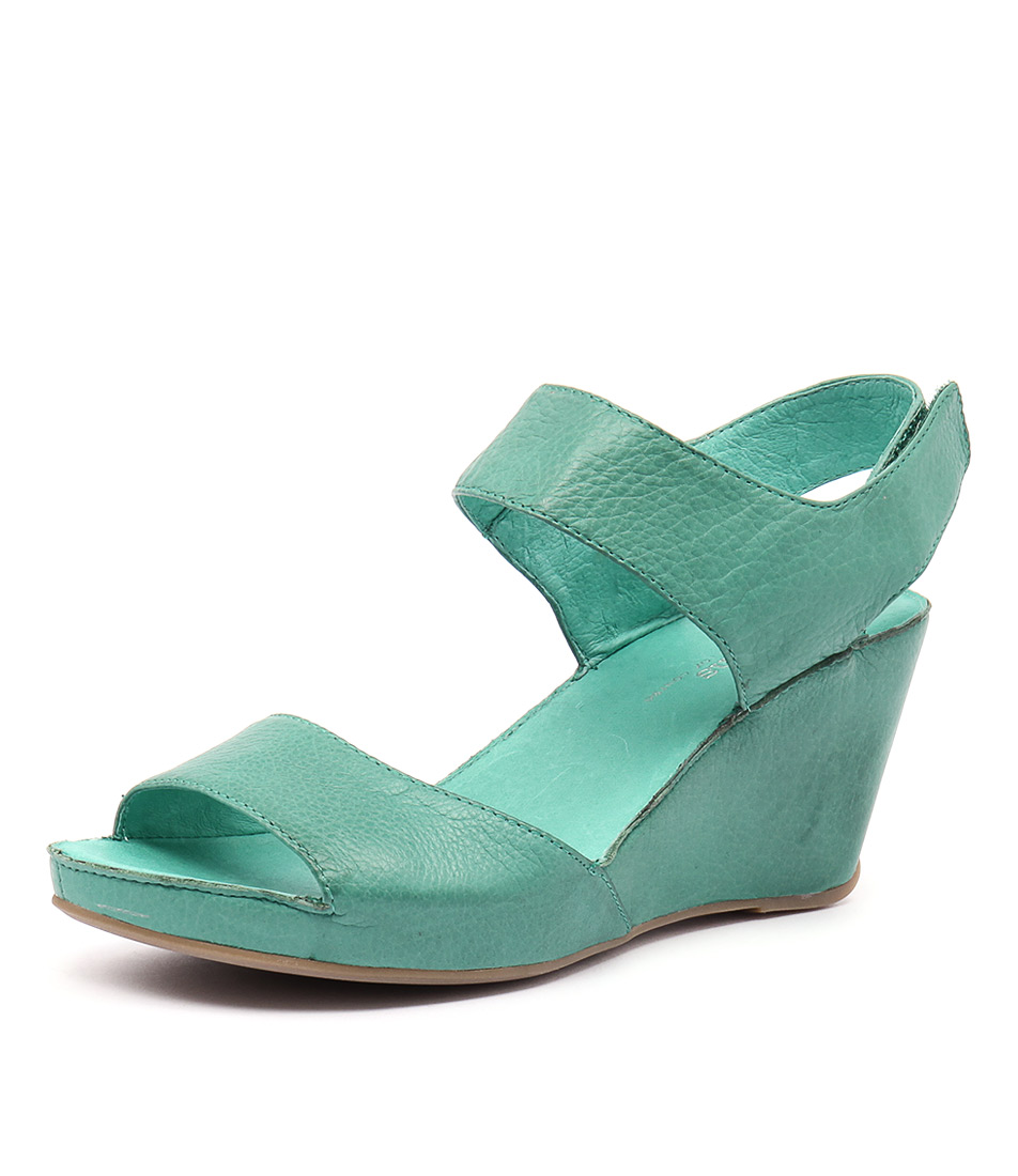 Gamins Sheree Green Burnished Leather Sandals
