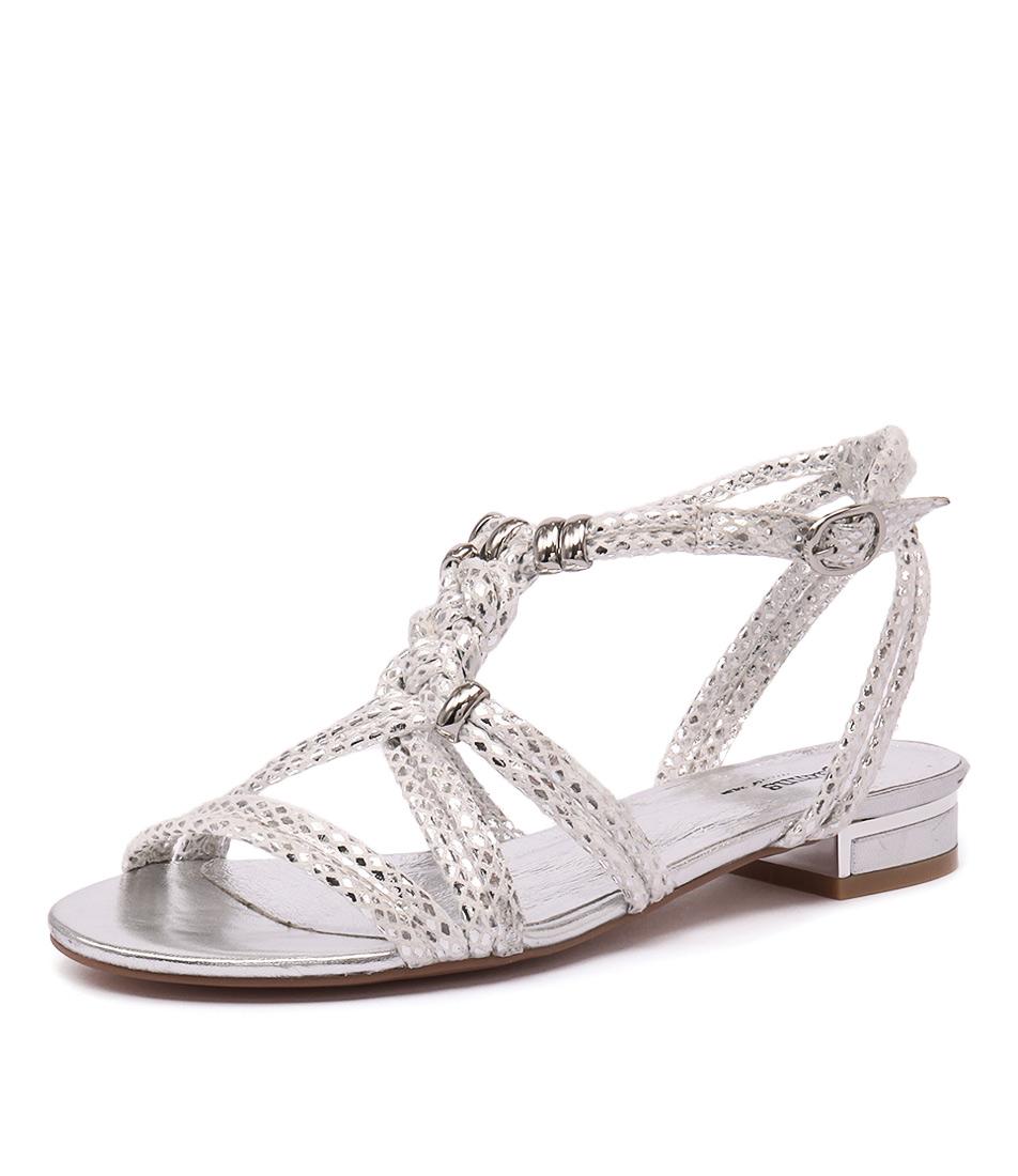 Gamins Naurite Silver Metallic Snake Sandals