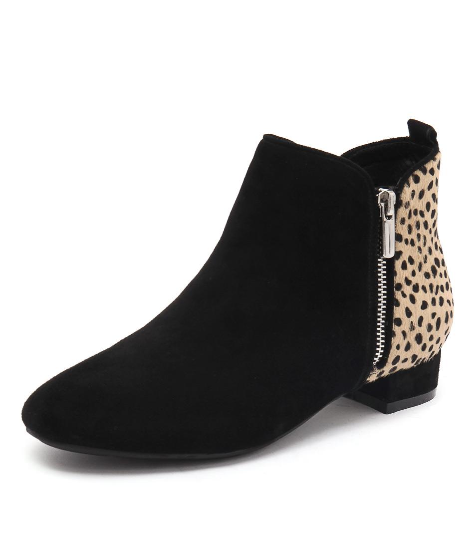 Gamins Horick Black-Ocelot-Black Boots