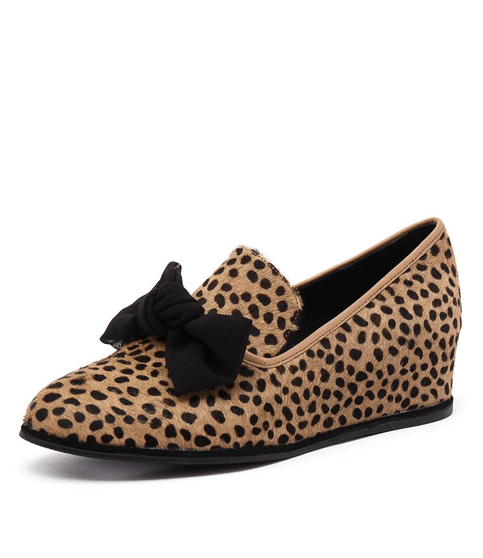 Gamins Poetic Ocelot-Black Loafers & Slip-Ons