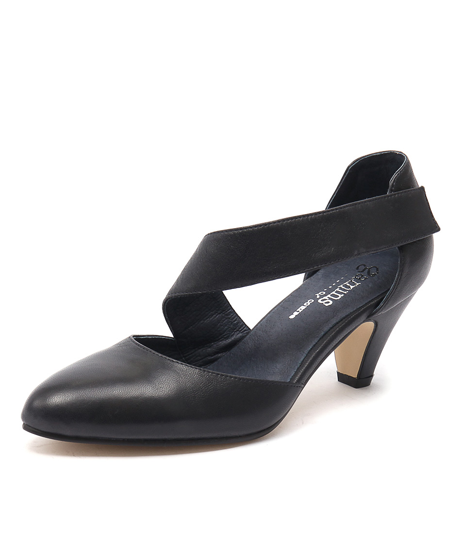 Gamins Pilli Navy Leather Shoes