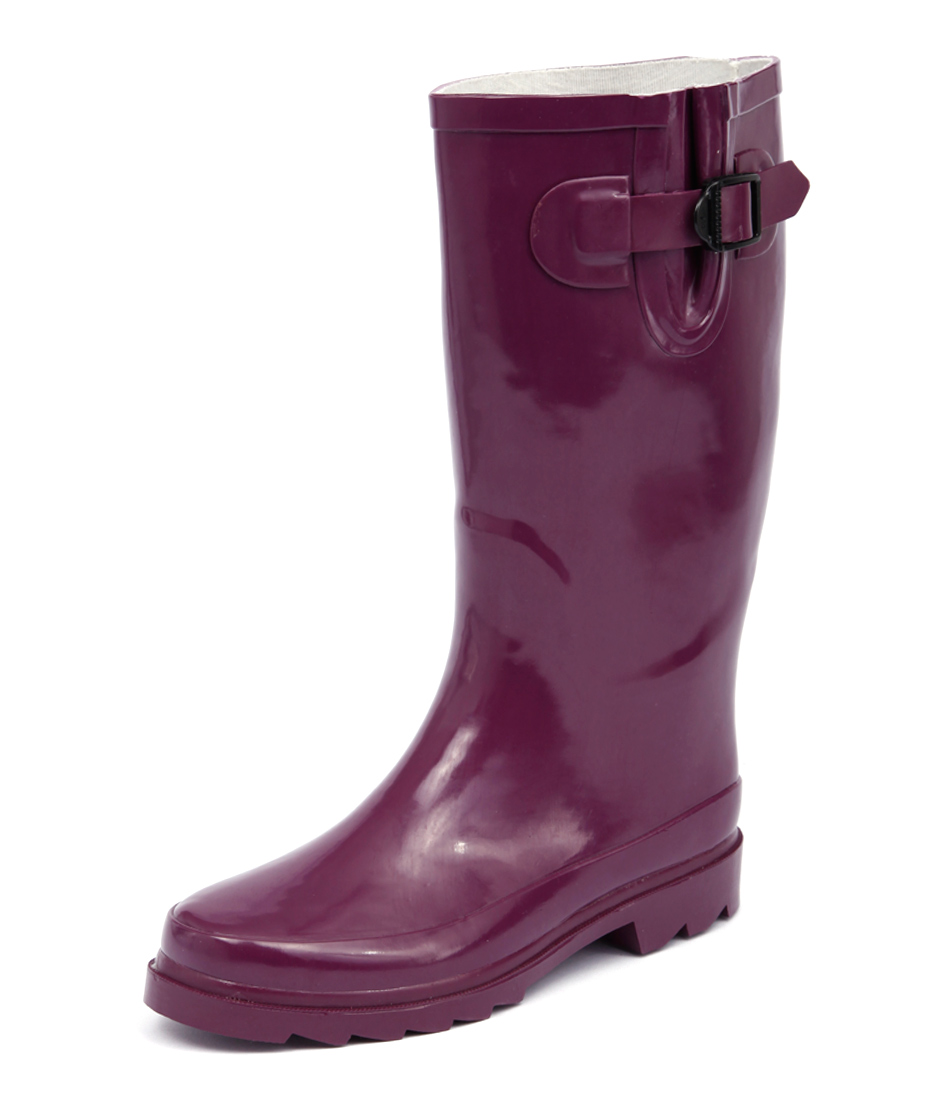 Gumboots Glossy Purple Boots