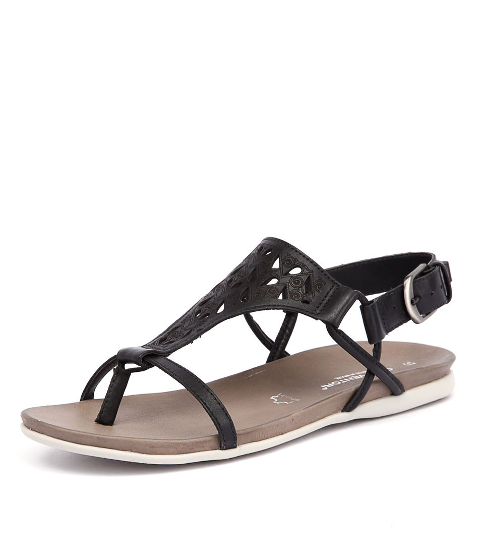 Gino Ventori Move Black Sandals