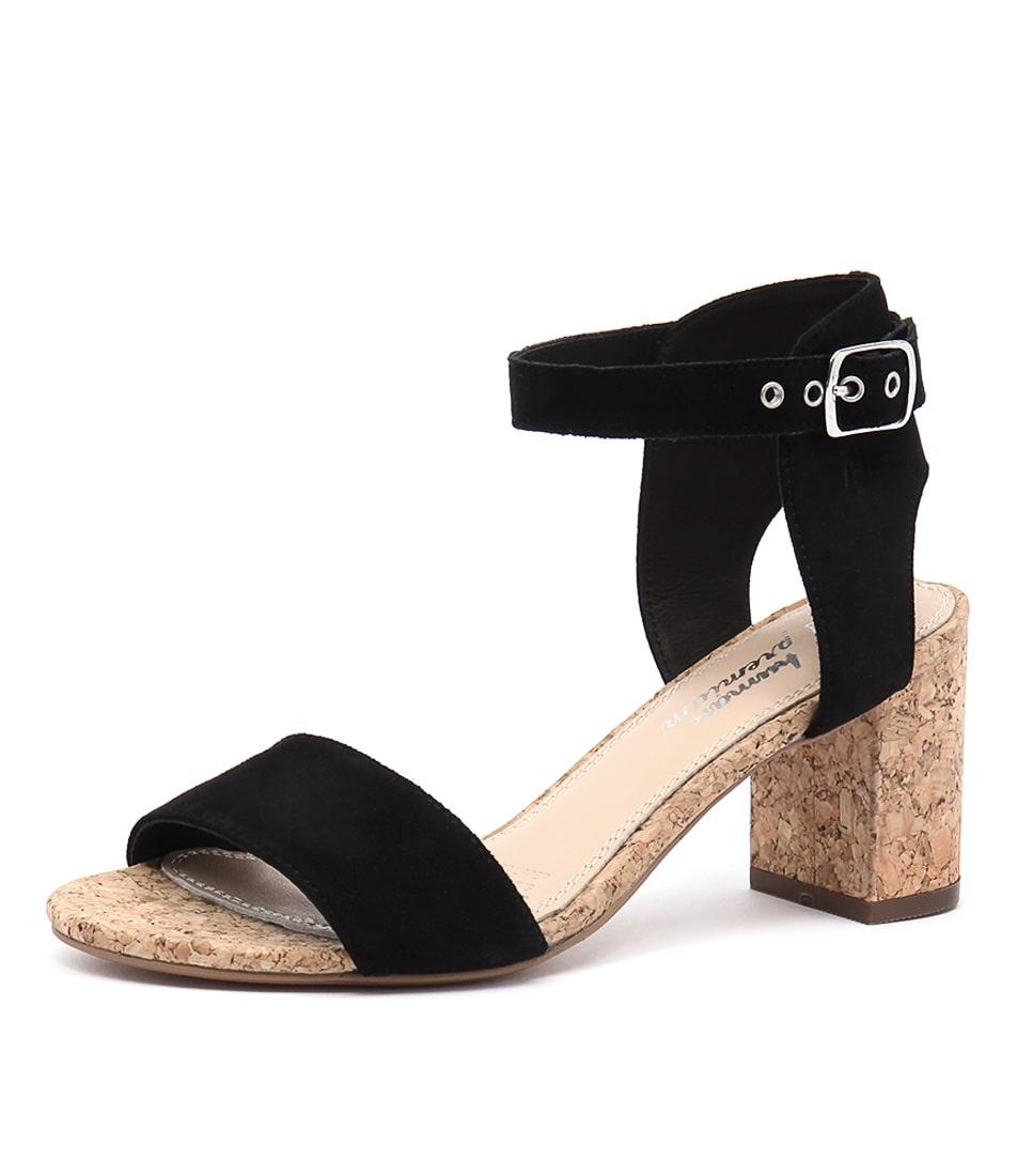 Human Premium Keira Black Sandals