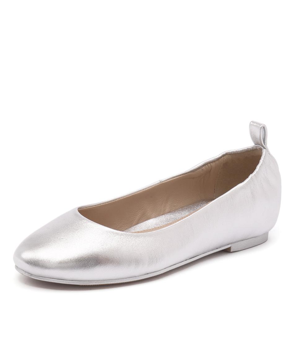 Human Premium Riva Silver Flats online