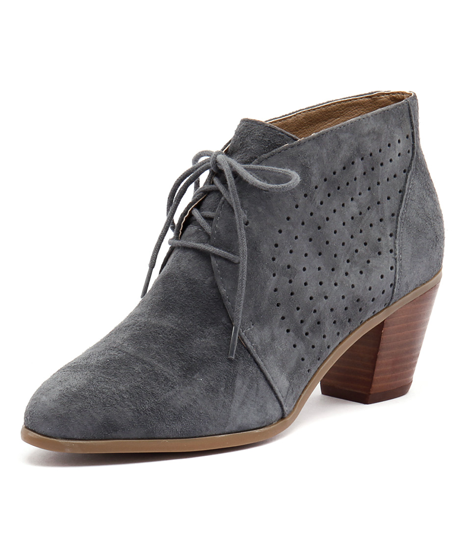 Hush Puppies Carine Dusty Blue Suede Boots