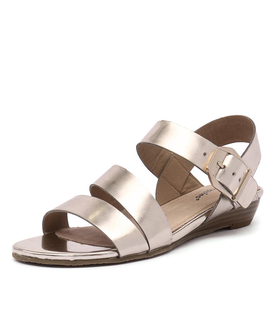 Hush Puppies Fernanda Soft Gold Mirror Metalic Sandals