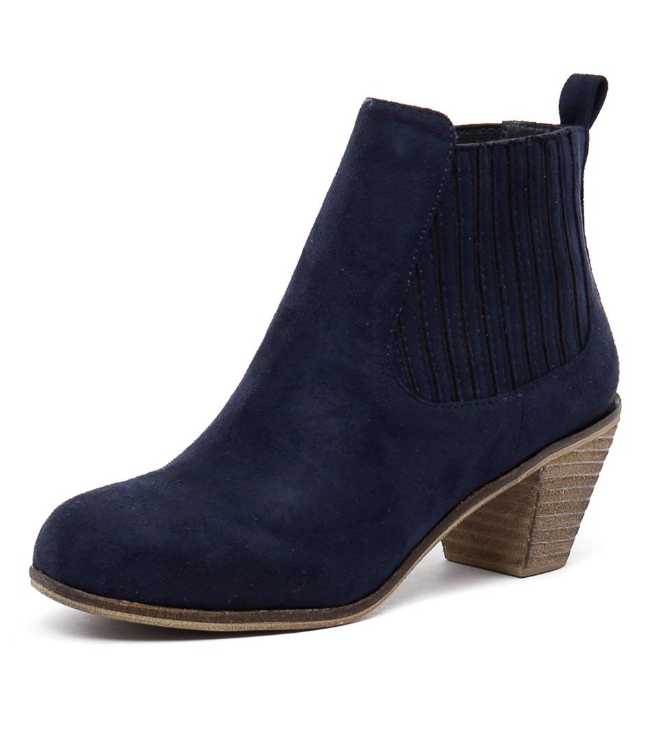 I Love Billy Riptide Navy Boots