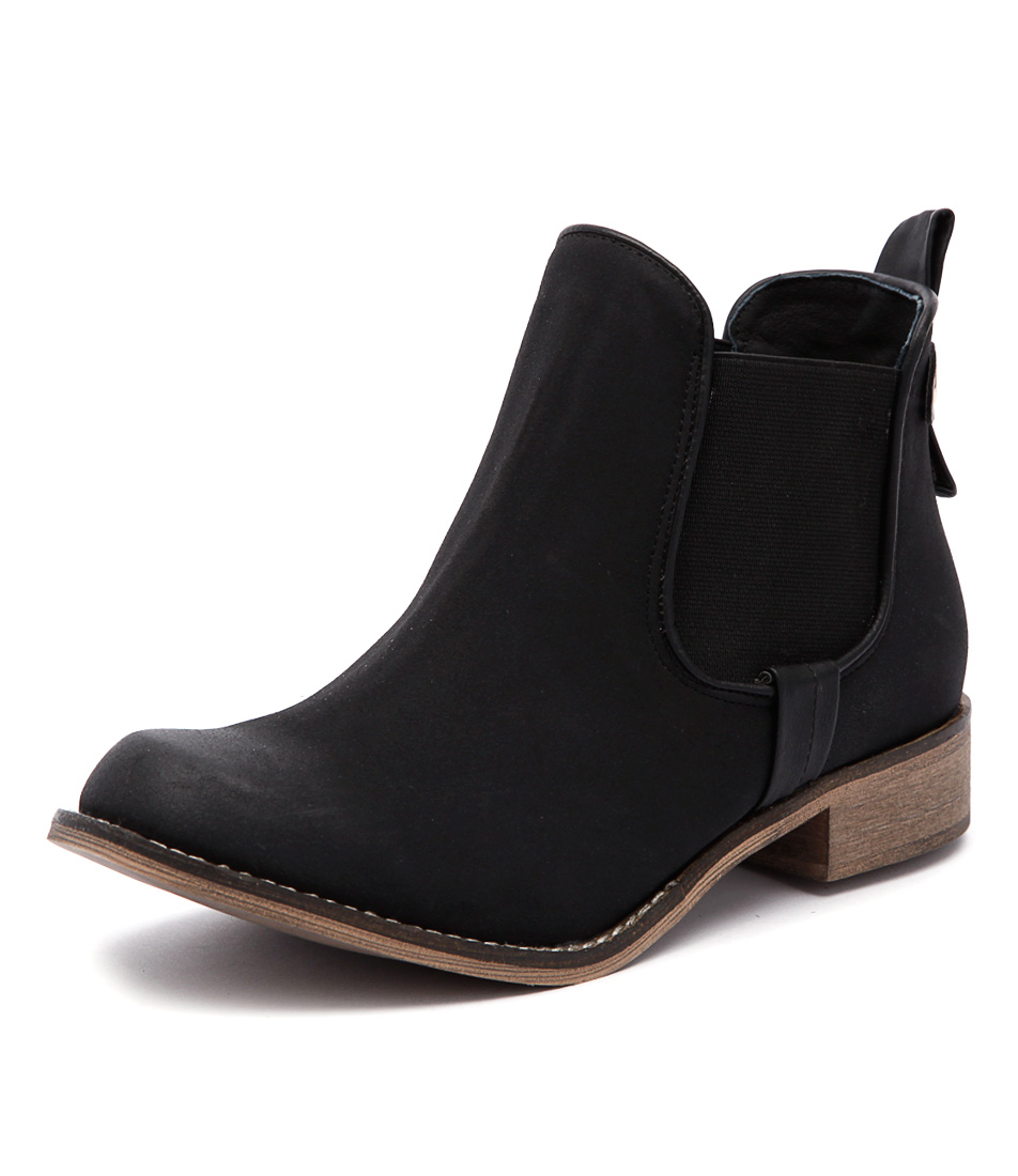 I Love Billy Saunders Black Boots
