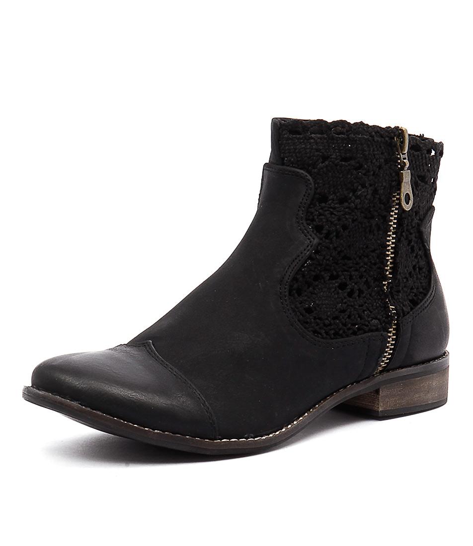 I Love Billy Flutter Black Boots