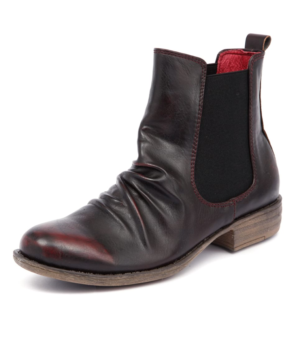 I Love Billy Welly Burgundy Rub Boots